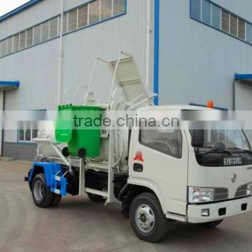 dongfeng 3 tons compactor lift garbage truck for sales