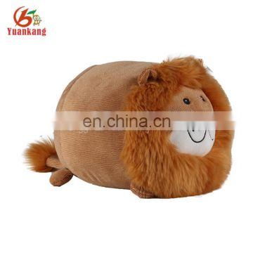 Factory Supply Customized Small Plush Stuffed Toy Round Lion Pet Animal