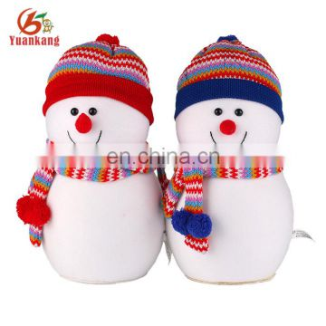 "Christmas snowman dog toy 12"" Plush xmas couple family stuffed snowman"