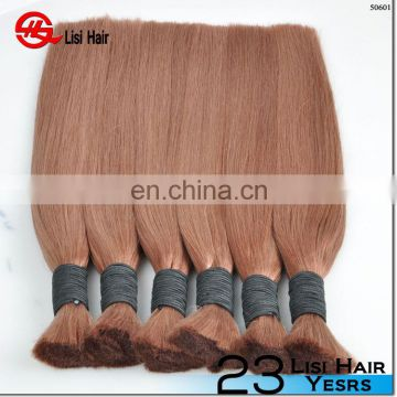 Aliexpress Wholesale Bulk Hair Weave Free of Any Chemicals Toppest Quality Hair Bulk