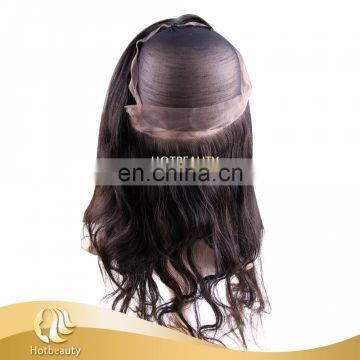Custom Order Lace Frontal Natural Hairline 360 Lace Band Frontal Back With Elastic 360 Lace Band Frontal with Cap