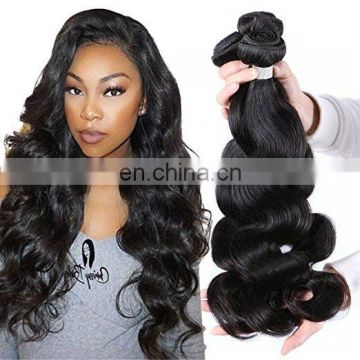 Factory Stock Wholesale Virgin Brazilian Sew In Human Hair Extensions body wave human hair