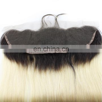 High quality ombre color T1B/613 cheap lace frontals straight