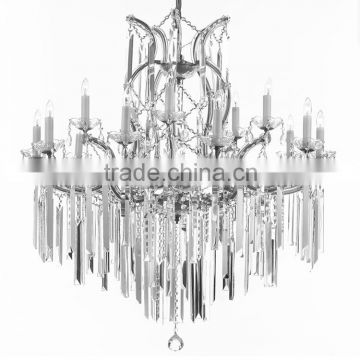 16 lights chrome finished k9 crystal deco affordable chandelier price