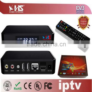 Home Strong IPTV Hybrid DVBS2 Set-top boxes free satellite tv decoder for  uk market