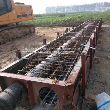 rubber balloon as construction formwork used for culvert construction, drainage construction, sewer construction