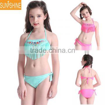 46b9374fd4 OEM High Quality Kids Bikini Nylon Girls Bikini Swimwear