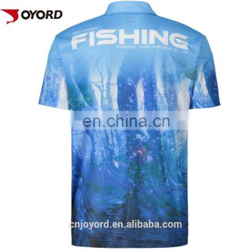Wholesale Sublimated Cheap Custom Fishing Wear Jerseys