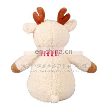 Soft stuffed christmas reindeer animal toy for kids gift