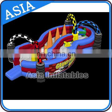 Custom Made Inflatable Go Karts Race Track Games for Sale Outdoor Inflatable Zorb Track