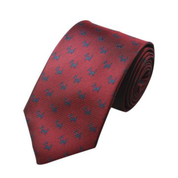 Digital Printing Blue Polyester Woven Necktie Summer Striped