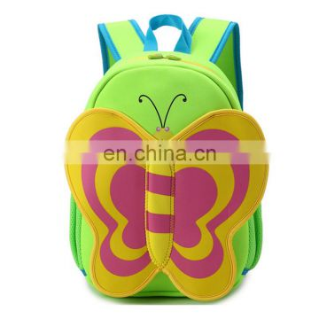 cheap neopprene fabric cute animal school kids backpack