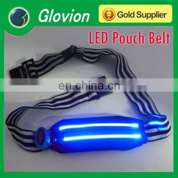 LED running pouch waistband LED safety pouch belt LED sport pouch waistband