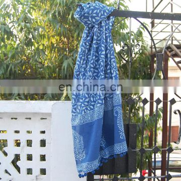 indiago Hand Block Print Scarf SSTH$454