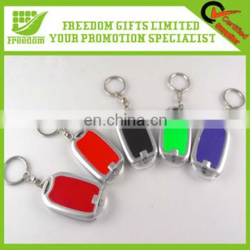 Logo Printed Promotional LED Light Bulb Key Chain