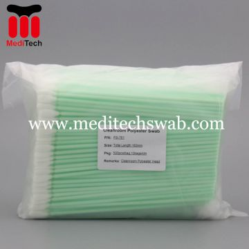 POLYESTER CLEANROOM SWABS WITH LONG HANDLE