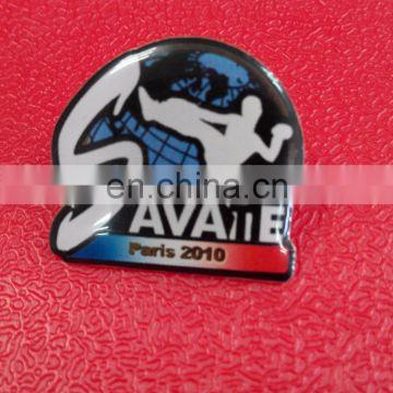 Customized shape Brass plating Lapel pin badge Offset