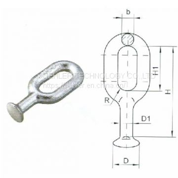Qh Type Electric Power Line Fitting Hot DIP Galvanized Steel Ball Eyes