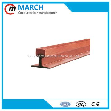 800amp 1000amp heavy dirty condition copperhead rail for cement plant