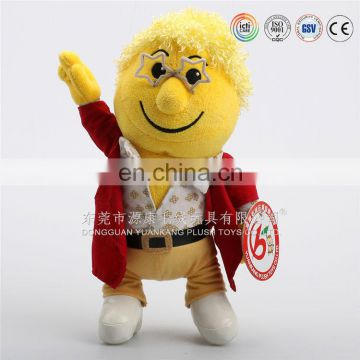 High quality colorful smiley face soft toys