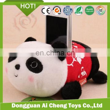 cute plush panda desktop mobile phone holder