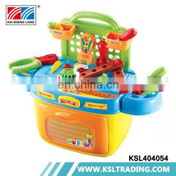 Wholesale pretend play toys tool set with light and music