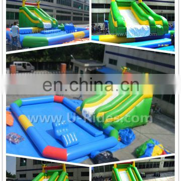 2017 New Summer Inflatable Water With Slides Amusement Park Equipment For Holiday