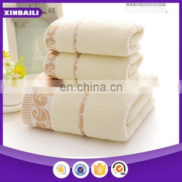 custom home 100% cotton jacquard embroidered face towel