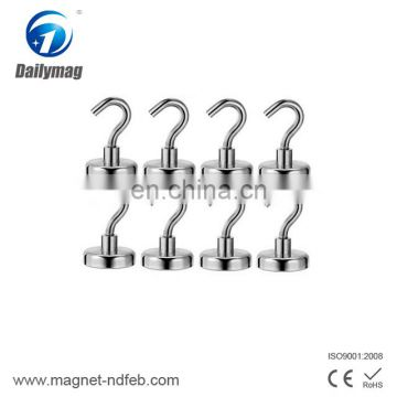 High Quality Rare Earth Neodymium Pot Magnetic Hooks Dailymag