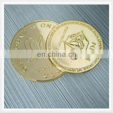 Promotion gifts gold color plastic token coin