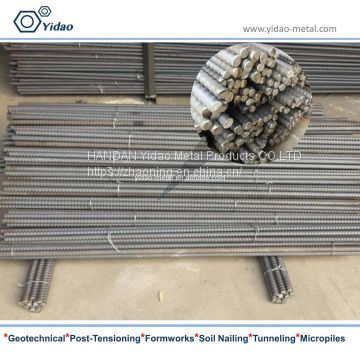 15/16mm tie rod for formwork system tie back post tensioning bar