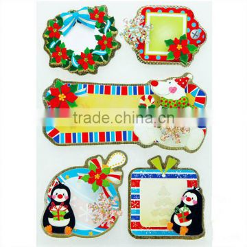 Christmas Gift Tags Foil Sticker Festive Gift Tags