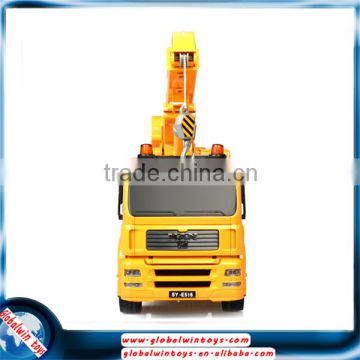 1:20 model crane, 27MHz 10-channel toy crane truck with lights&sounds, manipulation platform 360-degree rotation