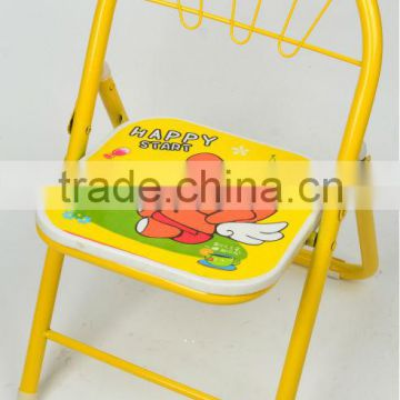metal tube and plastic plate foldable child chair