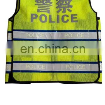 Promotion Yellow Police Crossfit Reflective Safety Jacket