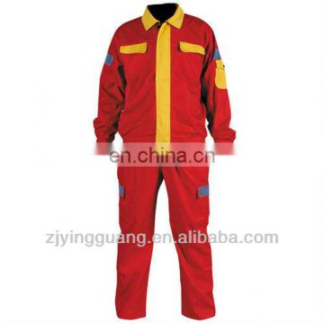 100% Cotton Twill Fabric Long Sleeves Safety Work Coverall Meet EN471 Class3,ANSI/ISEA Standard