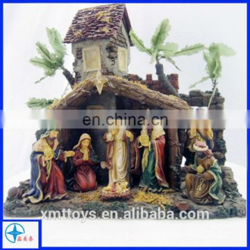resin crafts with a scenario of Worship Jesus for souvenir