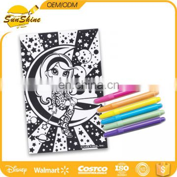 Posh poster art gift set with six markers