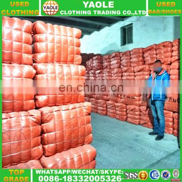 grade quality second hand clothes in bales wholesale used clothes for Africa