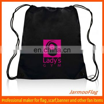 wholesale sports black drawstring bag