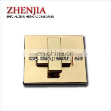 gold plated turn lock for handbags