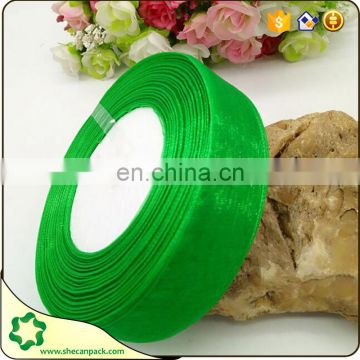 hot sale design of plain colorful organza