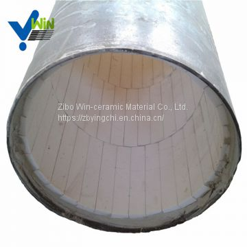 High hardness ceramic lined elbow stainless steel pipe with low price