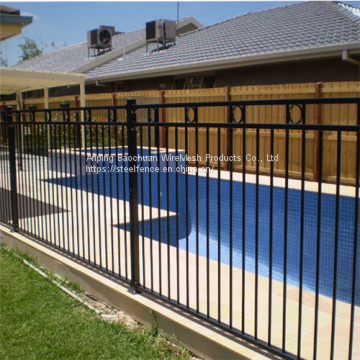 2mH of Baochuan galvanized steel fence panels/pool fence/pet fence