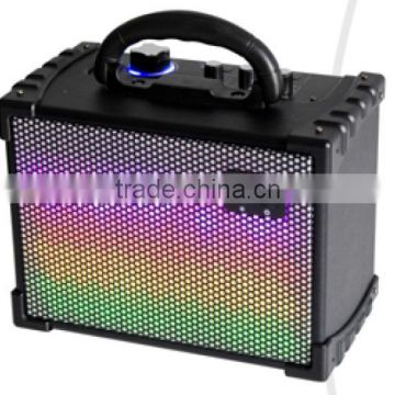 Factory supply OEM/ODM high tech stage speaker with t Multi-Color disco ligh wireless USB port for Charging speaker