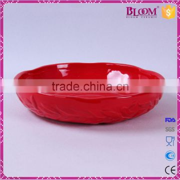 wholesale olive branch desgin ceramic candy dish