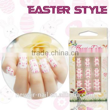 NEWAIR Promotion price Easter style rabbit aritificial nail art designs