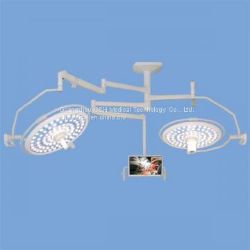 Ceiling Mount Double Domes LED Surgery Lamps System with Camera and Monitor