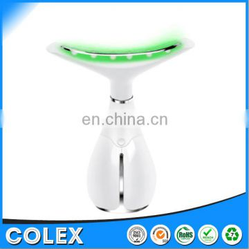 Neck Skin Tightening Device Remove Wrinkle With LED Light and Magnetic heat Therapy Vibration Massager