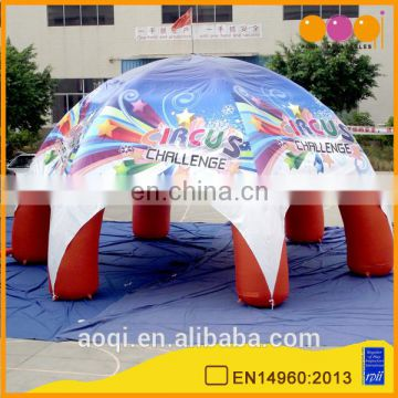 New design giant outdoor inflatable round roof tent for party